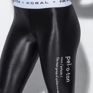 Peloton x Koral NWT Black Infinity Lustrous Sheen Aden Banded Legging Large